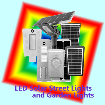LED Solar Garden/Street Lights